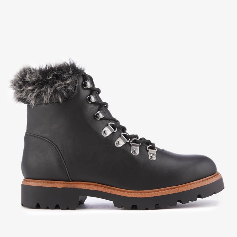 KG Kurt Geiger Women's Tyrone Leather Hiker Style Boots - Black - UK 3 - Black