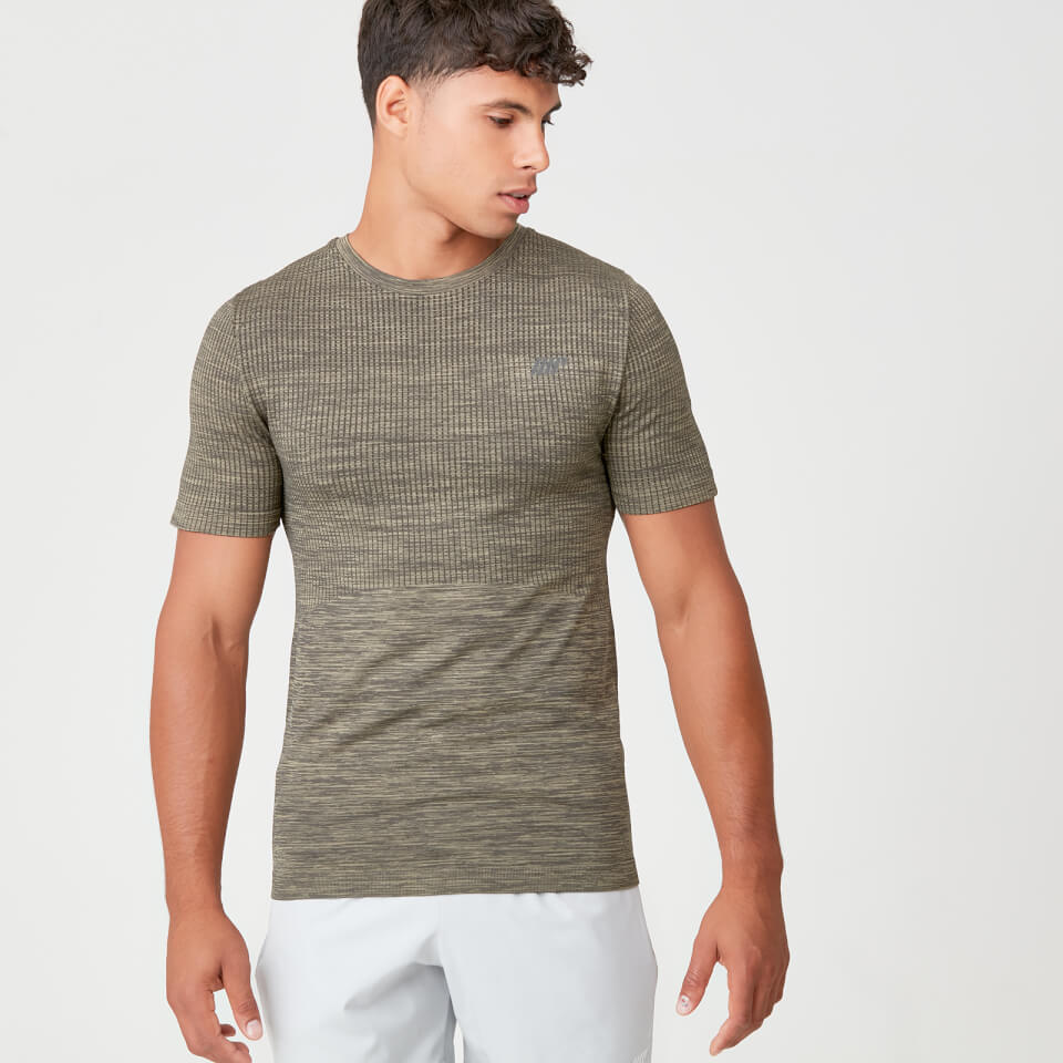 Camiseta sin costuras Sculpt - S - Light Olive