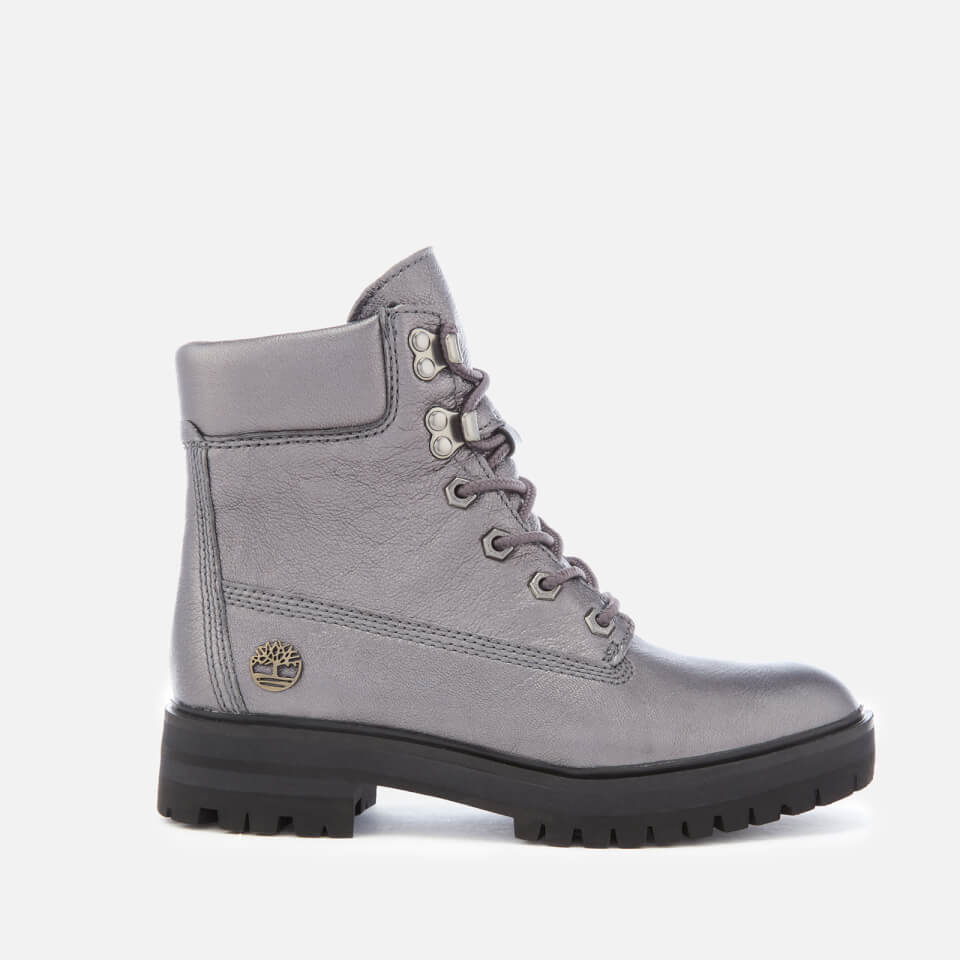 Timberland Women's Metallic London Square 6 Inch Boots Dark Grey Akita