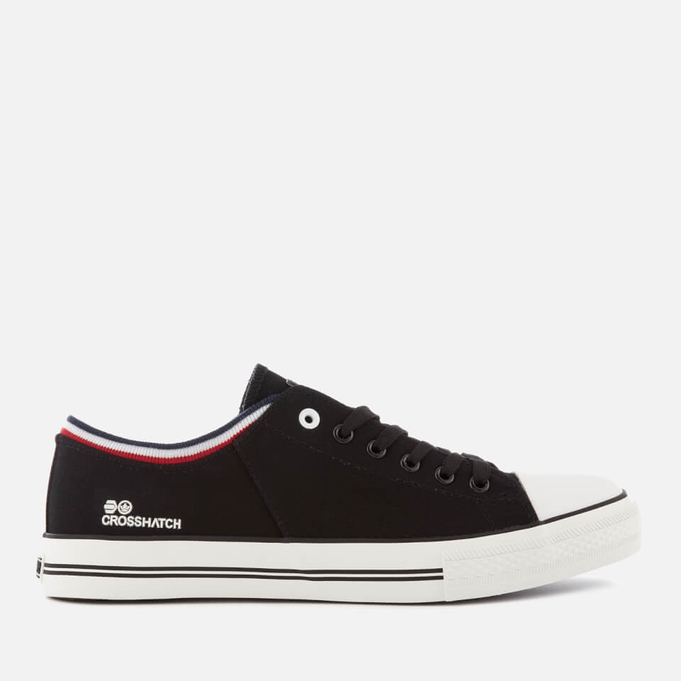 Crosshatch Men's Rotherham Plimsolls - Black - UK 9 - Negro