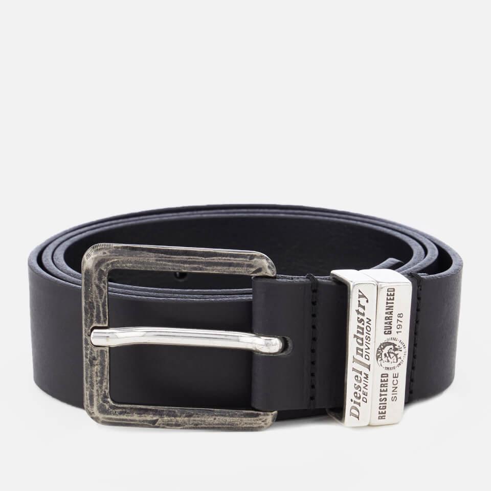 Diesel Men's Guarantee Leather Belt - Black - W36/90cm - Black
