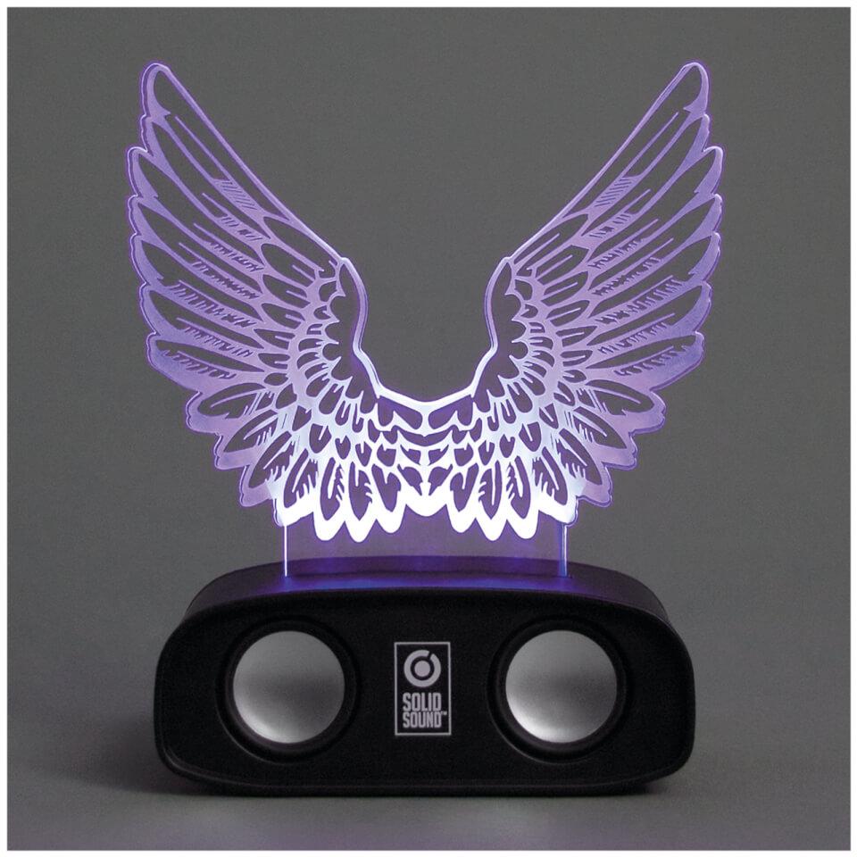 Ausgefallengadgets - Geräuschreaktive Lautsprecher – Flügel - Onlineshop Sowas Will Ich Auch