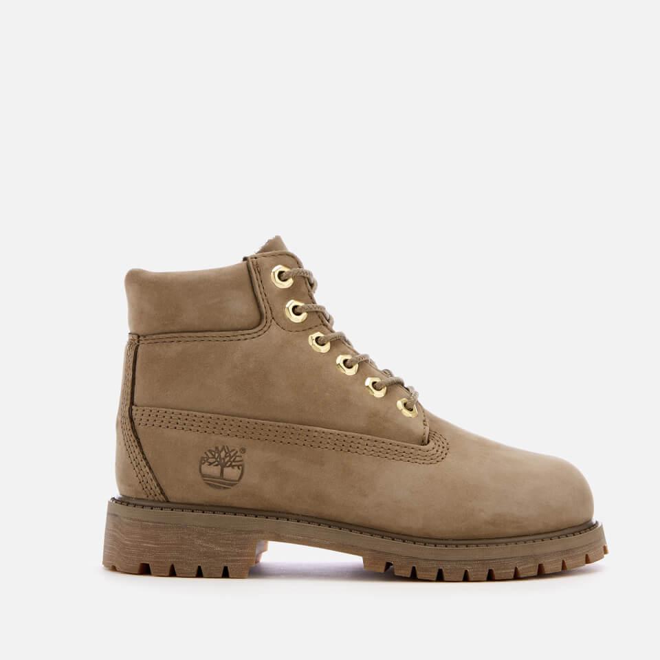 d74311d498dfce Timberland Kids  6 Inch Premium Waterproof Leather Boots - New Greige  Waterbuck Kinderbekleidung