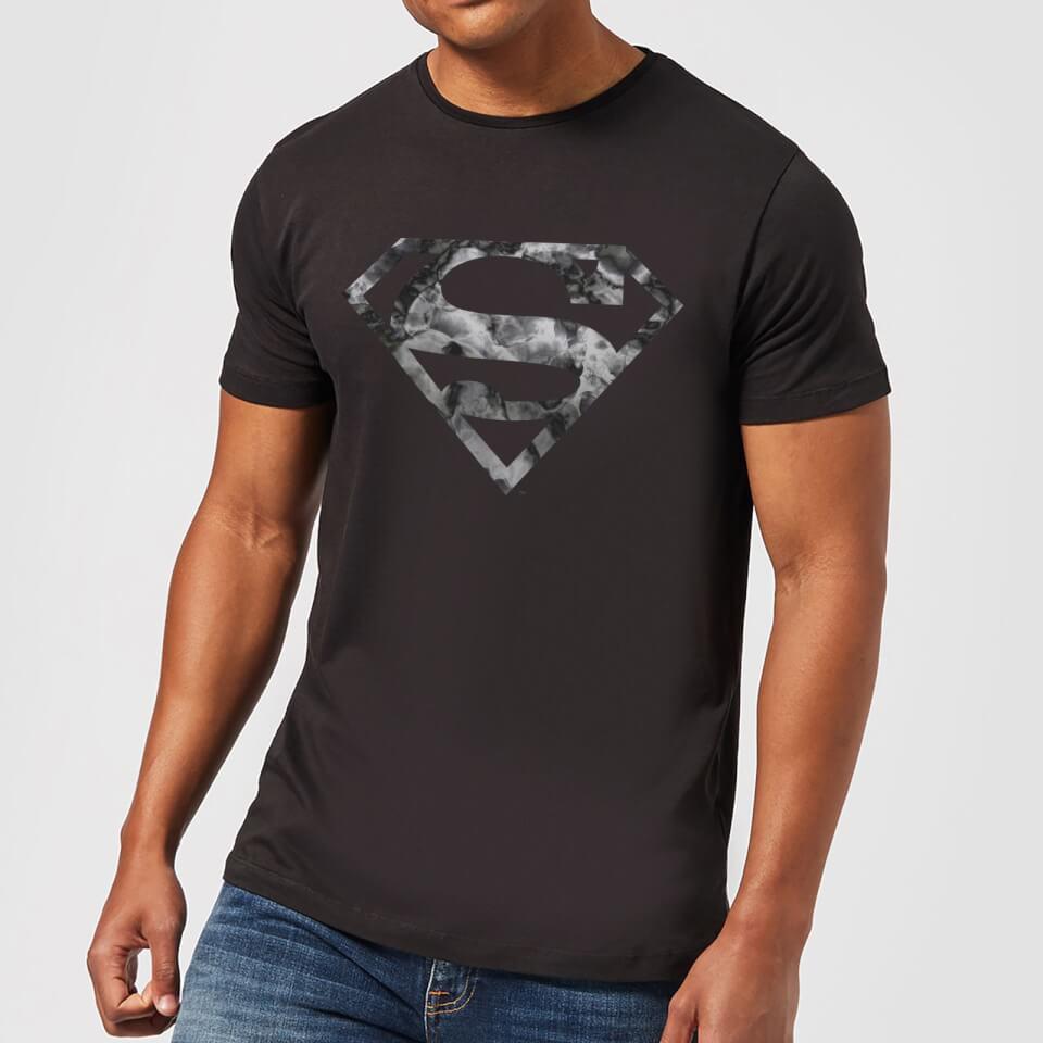 Nützlichfanartikel - DC Originals Marble Superman Logo Herren T Shirt Schwarz 3XL - Onlineshop Sowas Will Ich Auch