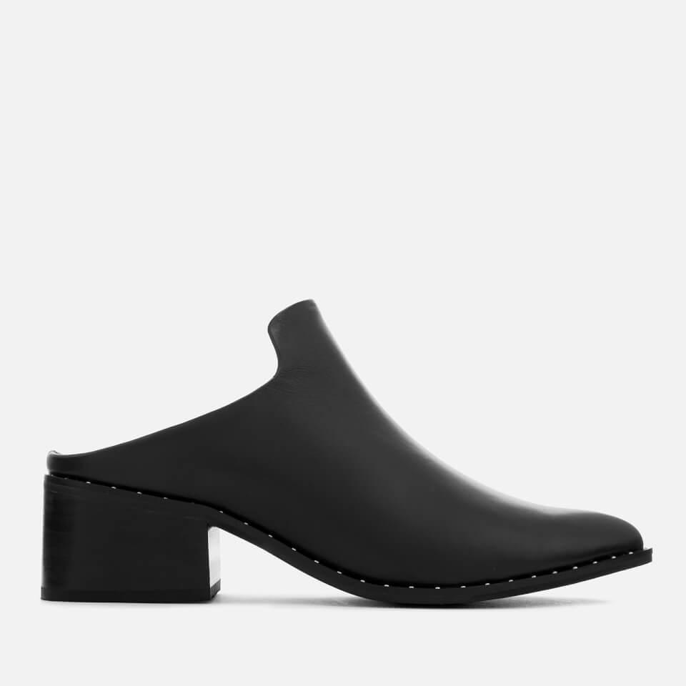 Sol Sana Women's Clarice II Leather Mule Ankle Boots - Black - UK 4 - Black