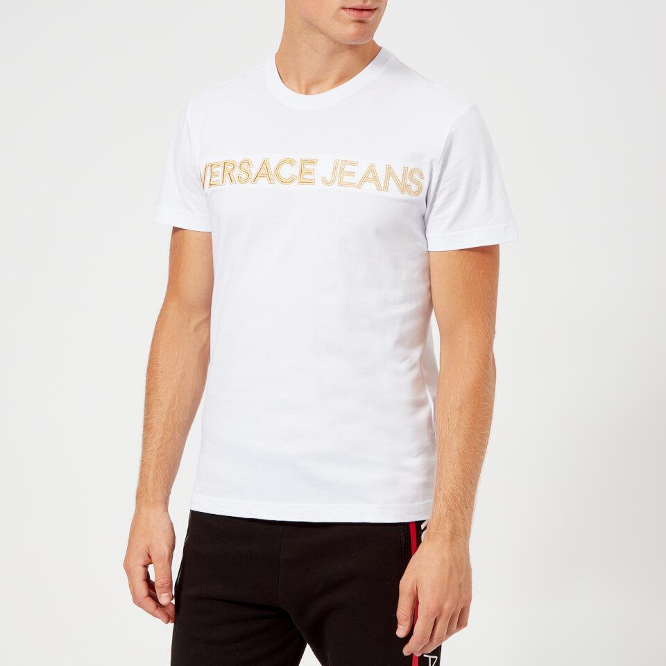 Versace Jeans Men's Gold Logo T-Shirt - White - XXL - White
