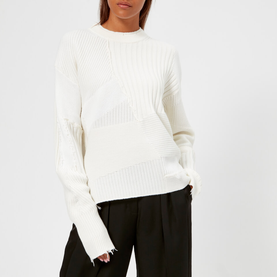 Helmut Lang Women s Military Grunge Knit Jumper - Ivory - Free UK Delivery  over £50 0df7cfdc3