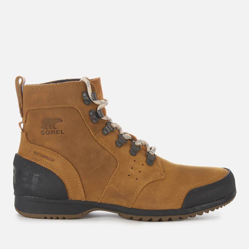 9689dcaa7e3 Sorel Men's Ankeny Mid Hiker Style Boots - Elk Black - UK 10 - Tan/