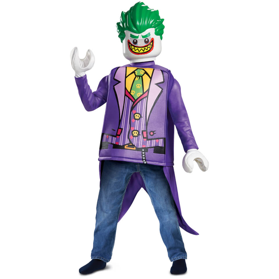 LEGO Batman Movie Kids Joker Classic Fancy Dress - Purple - S/4-6 Years - Púrpura