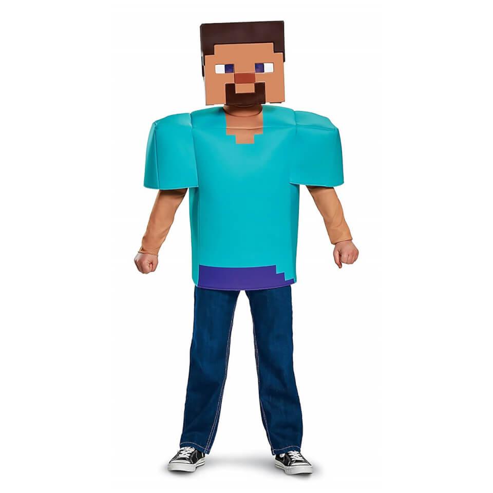 Minecraft Kids Steve Classic Fancy Dress Blue S 4 6 Years Blau
