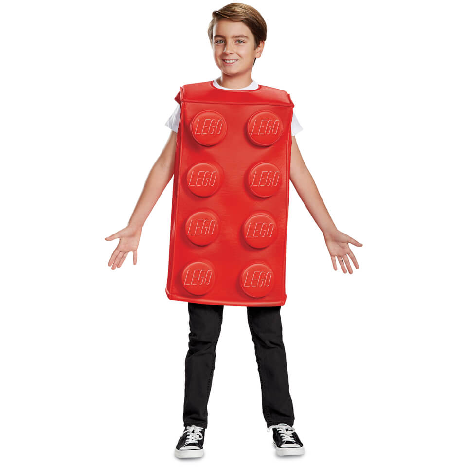 LEGO Iconic Kids Brick Fancy Dress - Red - M/7-8 Years - Red/Green