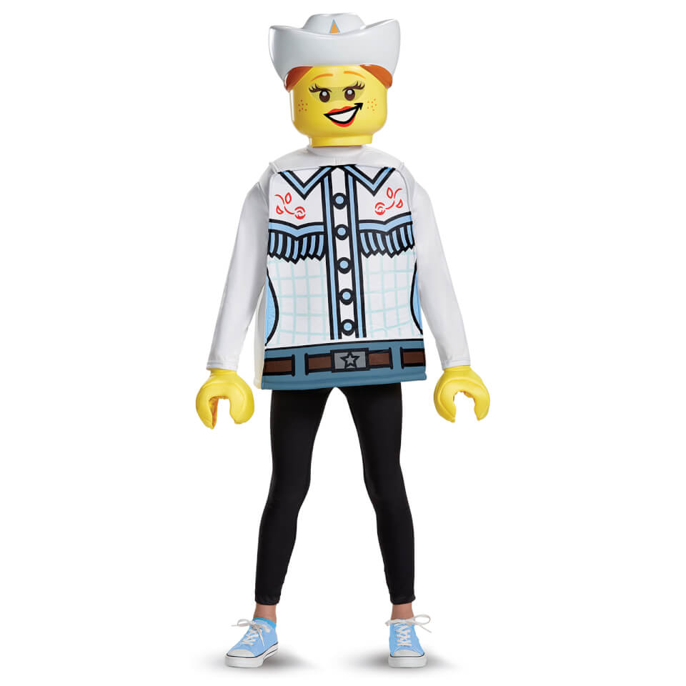 LEGO Iconic Kids Cowgirl Classic Fancy Dress - White - S/4-6 Years - Blanco
