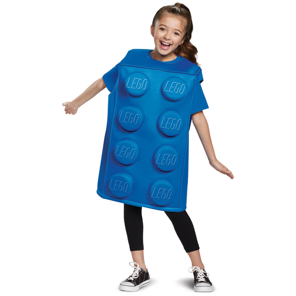 LEGO Iconic Kids Brick Fancy Dress - Blue - M/7-8 Years - Azul