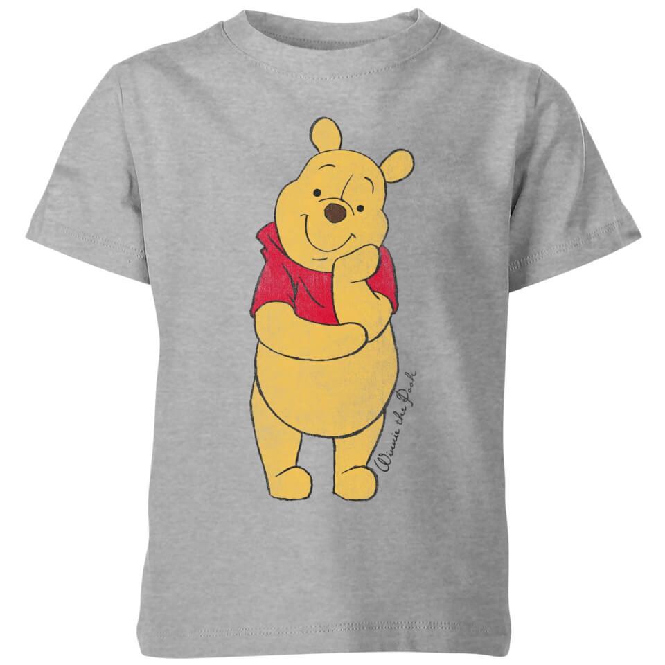 Disney Winnie The Pooh Classic Kids' T Shirt Grey 11 12 Jahre Grau