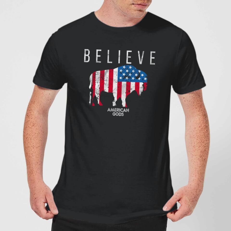 Camiseta American Gods Toro Believe - Hombre - Negro - 3XL - Negro