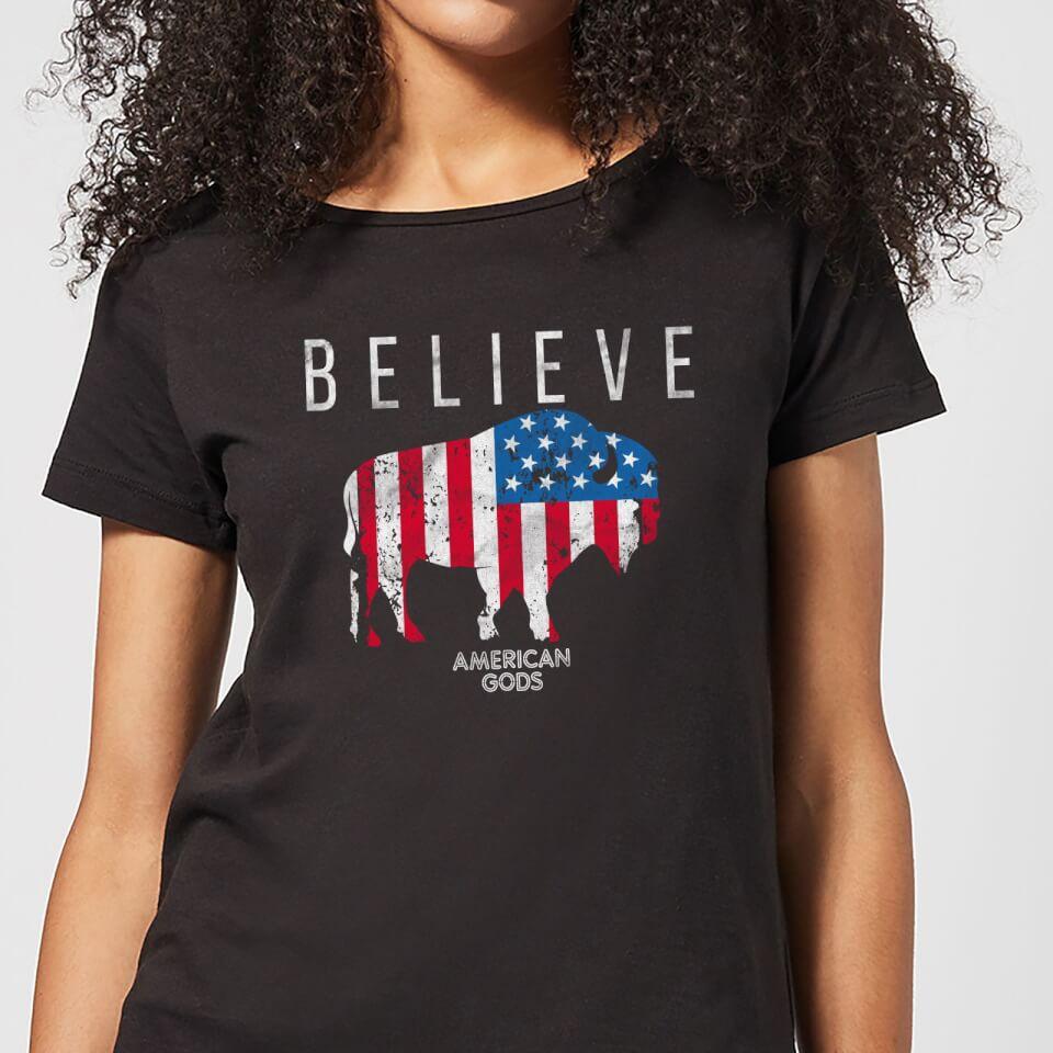 Camiseta American Gods Toro Believe - Mujer - Negro - 3XL - Negro