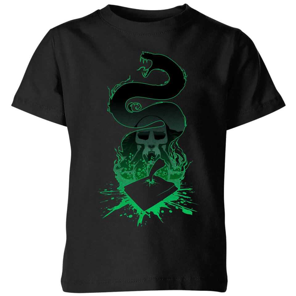 Harry Potter Basilisk Silhouette Kids' T-Shirt - Black - 5-6 Years - Black
