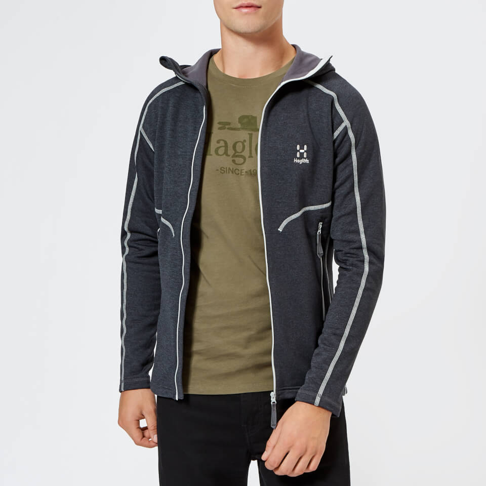 Haglofs Men's Heron Hooded Fleece Jacket - Slate - M - Grey