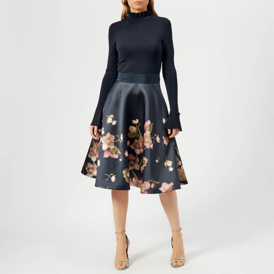 Ted Baker Women S Seema Arboretum Knitted Bodice Dress