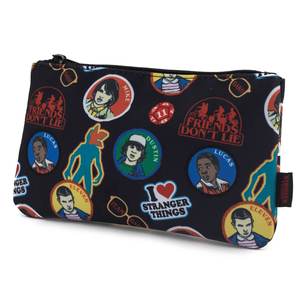 Loungefly Stranger Things Sticker Print Pencil Case Pop