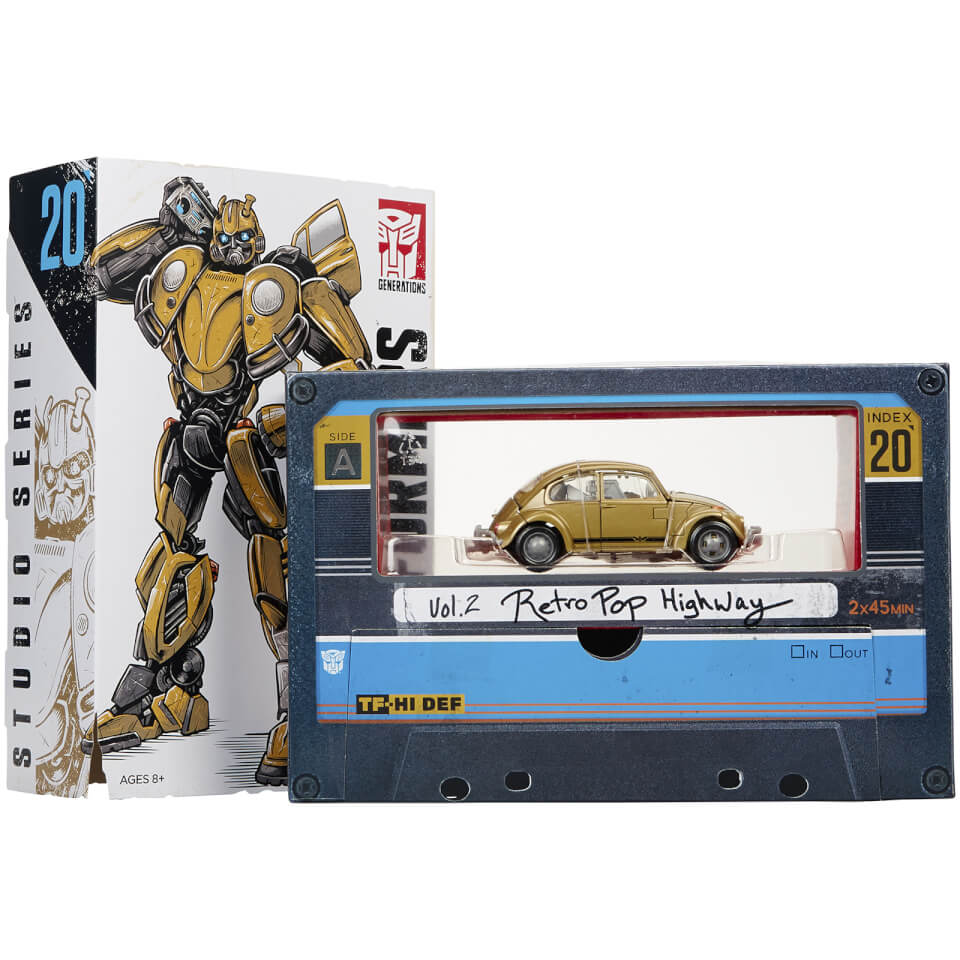 Hasbro Transformers: Studio Series 20 Bumblebee Gold Volkswagen Beetle Vol. 2 Retro Pop Highway