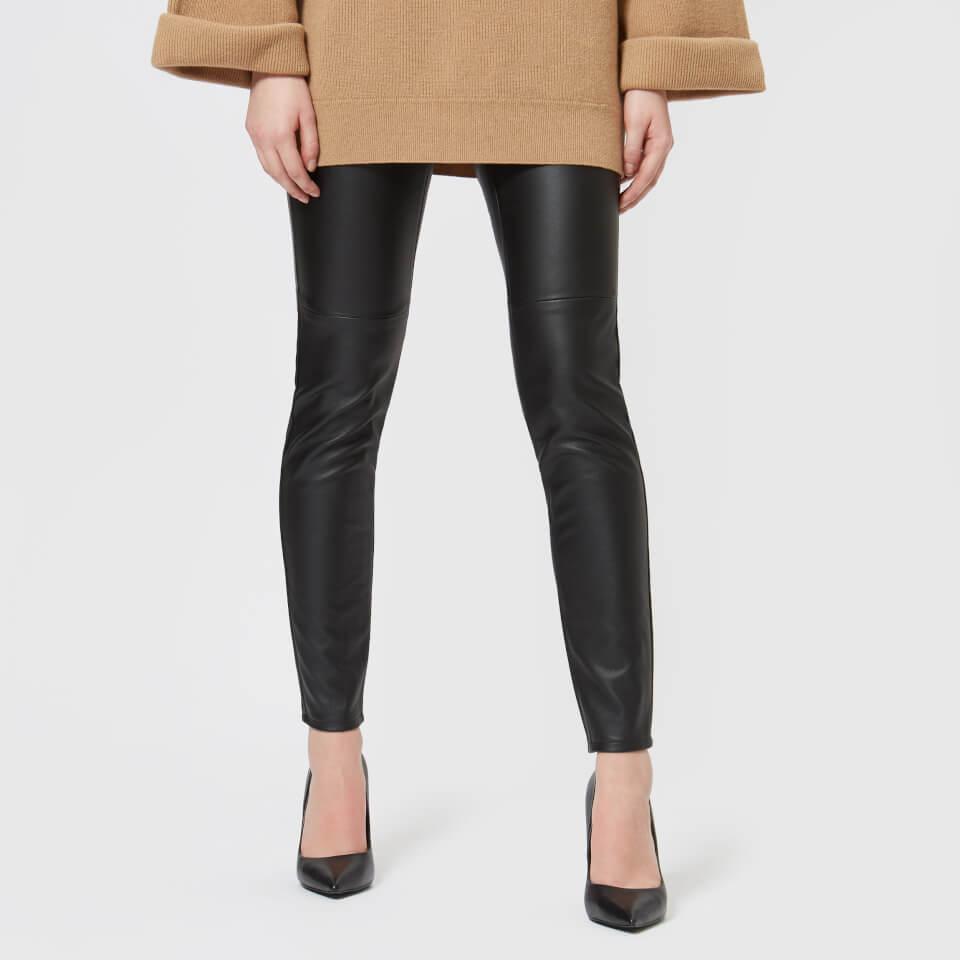 MICHAEL MICHAEL KORS Women's Faux Leather Leggings - Black - US 4/UK 8 - Black
