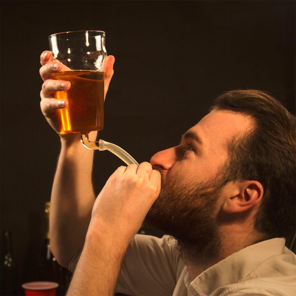 Pint Bong Beer Glass