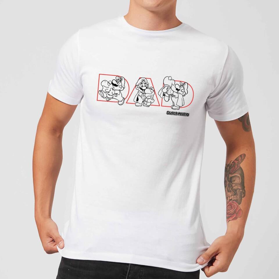 Camiseta Nintendo Super Mario Dad - Hombre - Blanco - L - Blanco