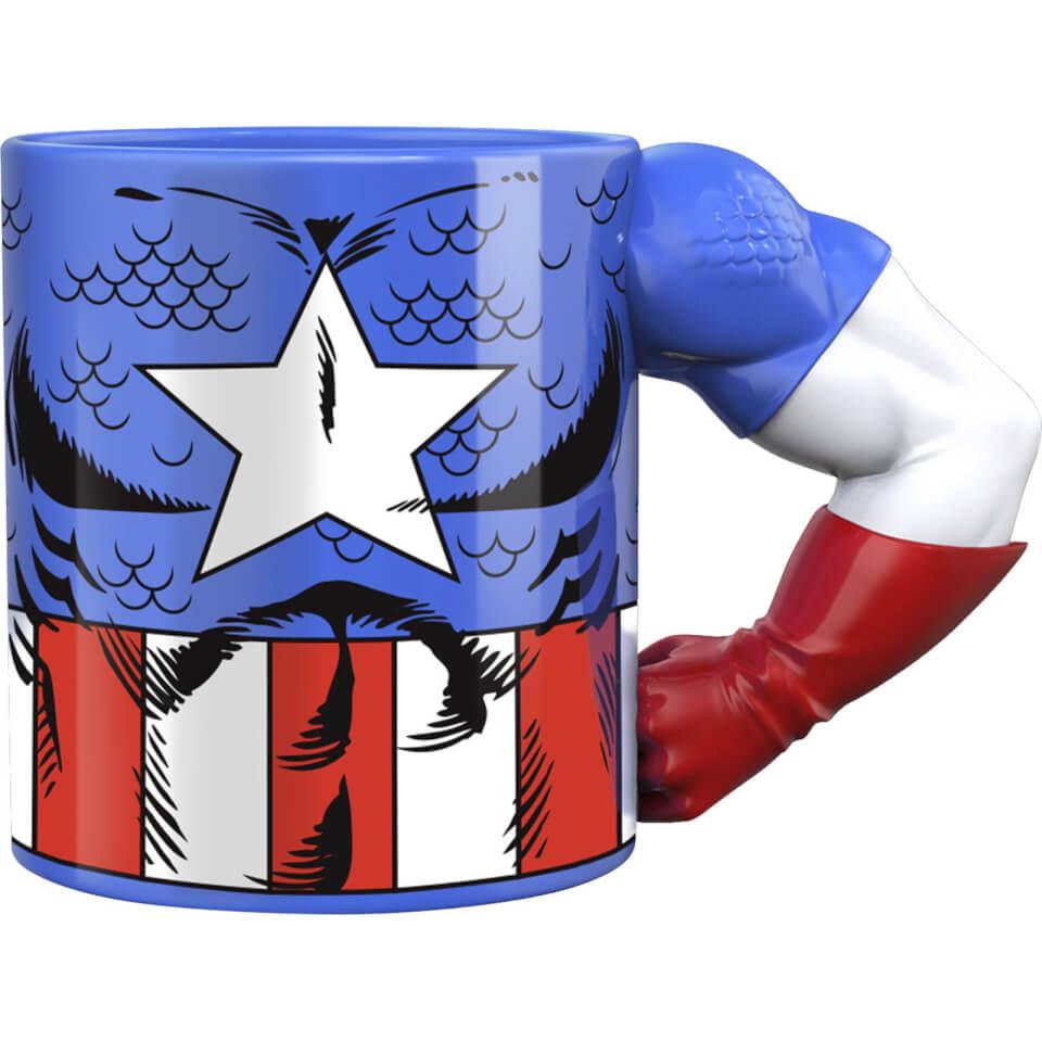 Meta Merch Marvel Captain America Arm Mug