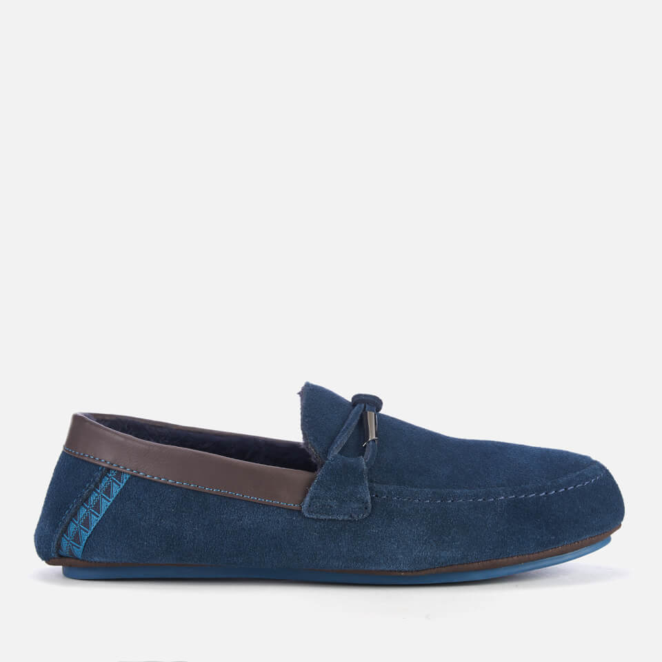 cecf42c99 Ted Baker Men s Valcent Suede Moccasin Slippers - Dark Blue Clothing ...
