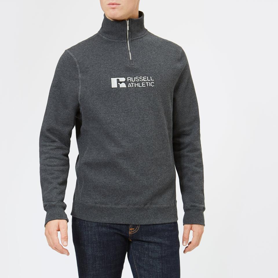 Russell Athletic Men's Atmosphere 1/4 Zip Sweatshirt - Charcoal Marl - S - Grey