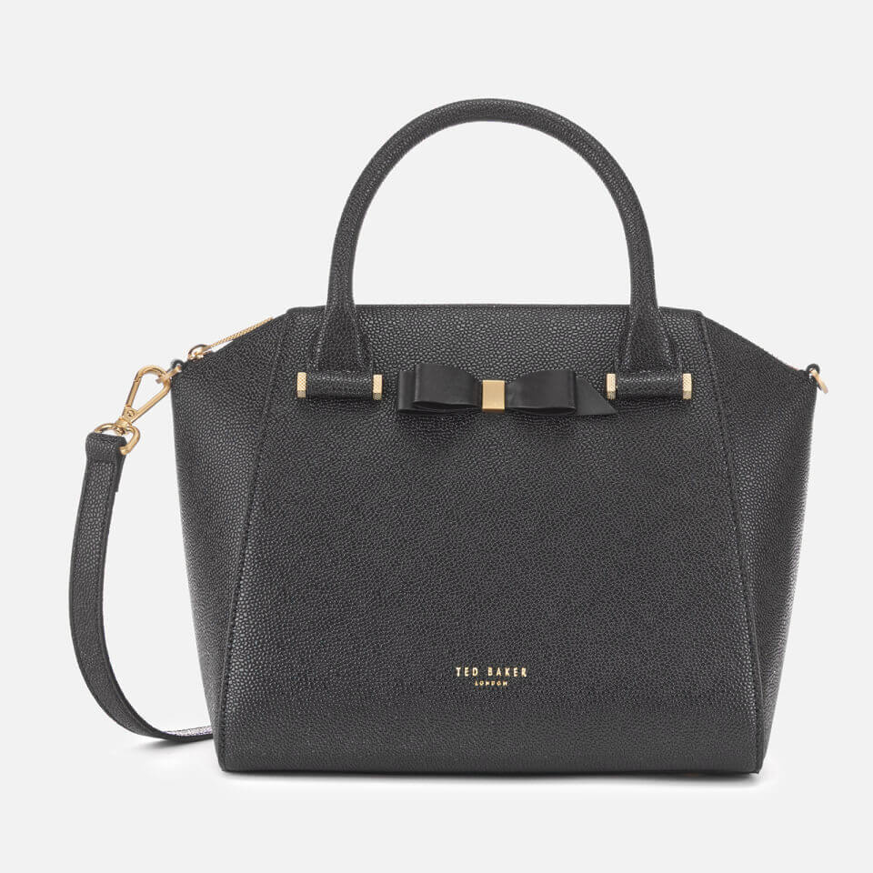 b427ab0cb9 Ted Baker Women's Janne Bow Detail Zip Tote Bag - Black Clothing ...