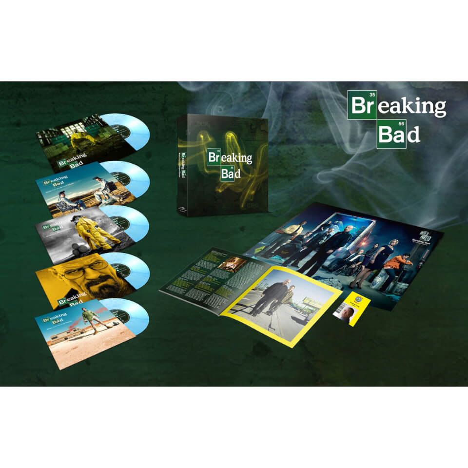 AMC's Breaking Bad 10th Anniversary OST Box Set (Music from the Original TV Series) 5 x 10  Coloured LP