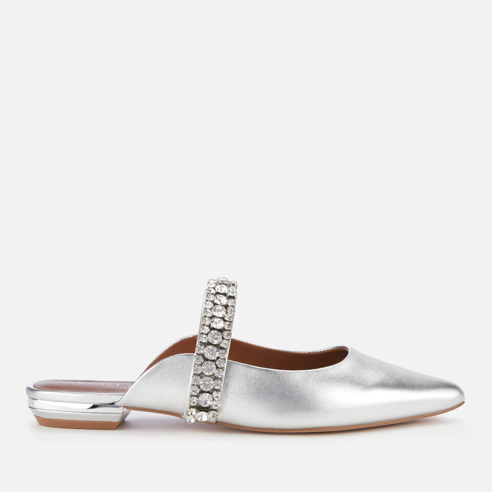 Kurt Geiger London Women's Princely Leather Pointed Mules - Silver - UK 5 - Silver