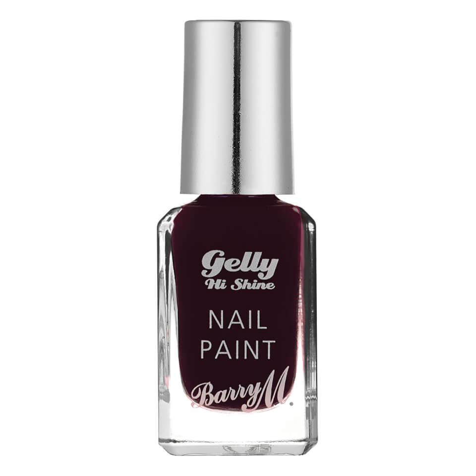 Barry M Cosmetics Gelly Hi Shine Nail Paint (Various Shades) - Black Cherry