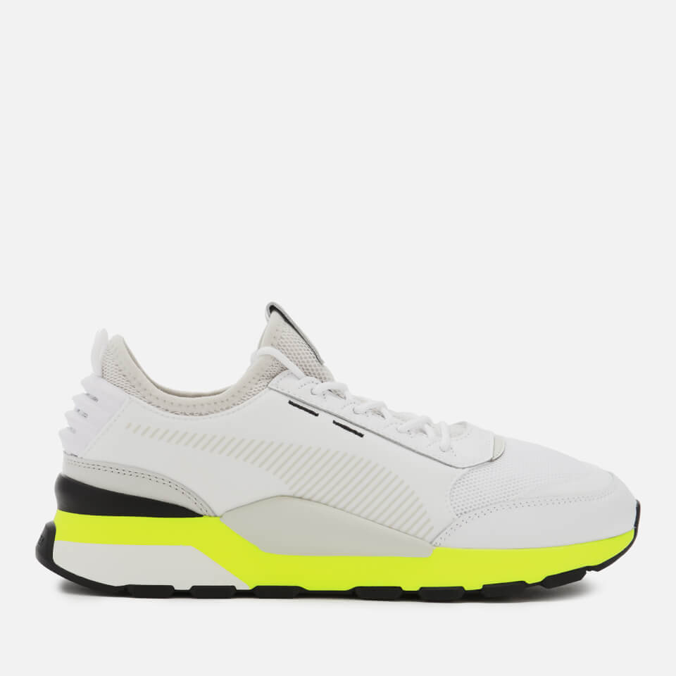 Puma Men's RS-0 Tracks Trainers - Puma White/Fizzy Yellow - UK 8 - White