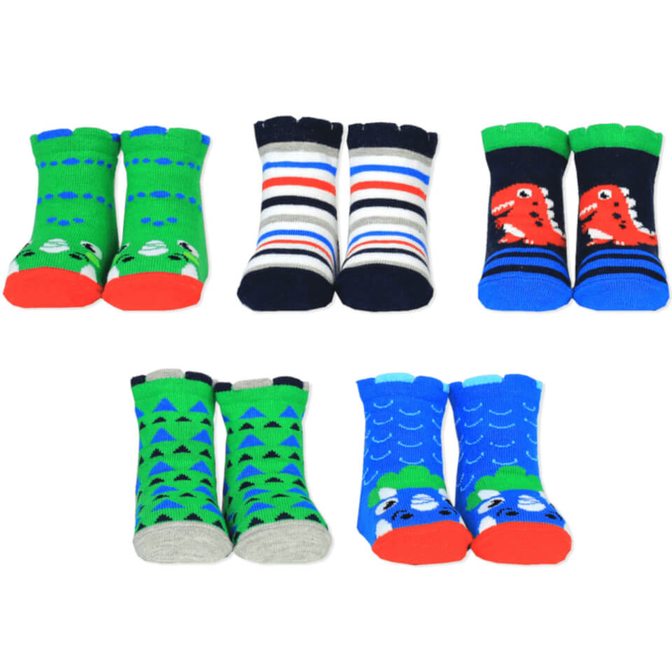 Cucamelon D is for Dinosaur Socks Gift Set 1 2 Years