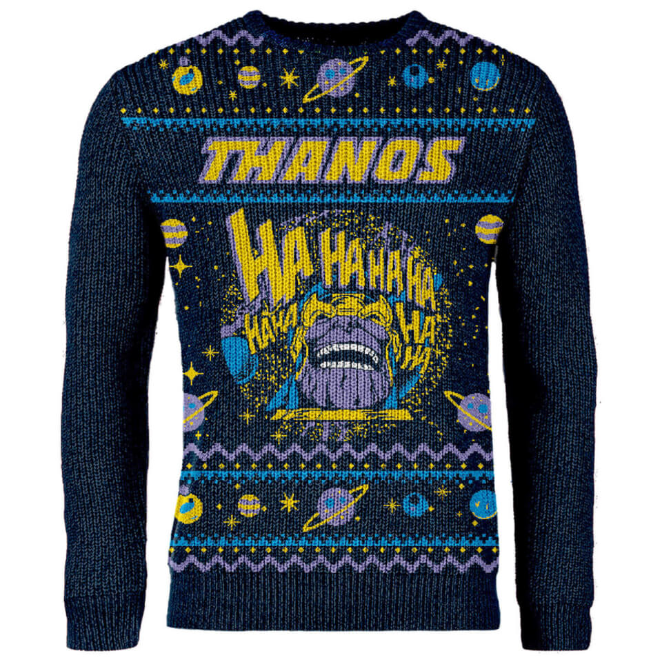Lord Of The Rings Christmas Jumper.Zavvi Exclusive Avengers Thanos Knitted Christmas Jumper Navy
