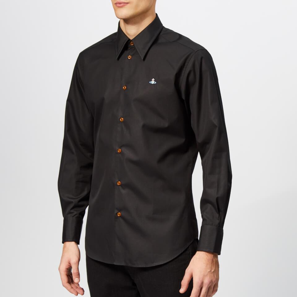 4928f14fb6f78 Vivienne Westwood Men s Classic Firm Poplin Shirt - Black - Free UK  Delivery over £50