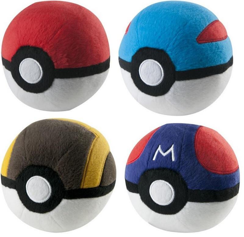 Officially Licensed Pokemon Pokeball Plush Assortment (4 styles available)