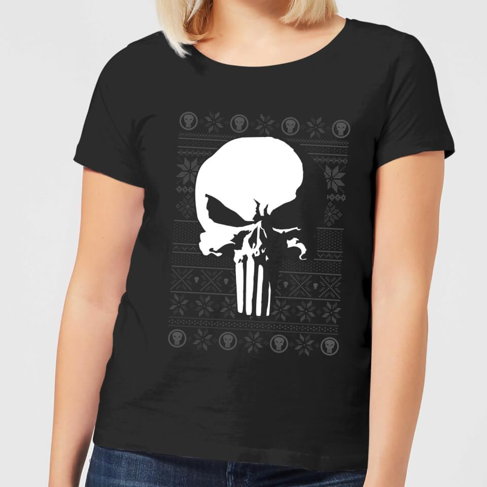 Marvel Punisher Women's Christmas T Shirt Black XXL Schwarz