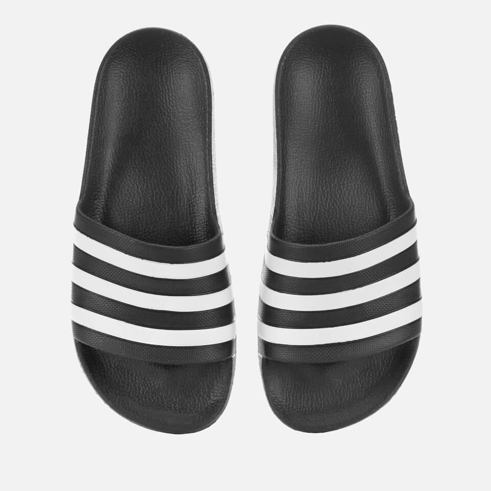 0e2bde794e2 adidas Men's Adilette Aqua Slide Sandals - Black - UK 4 - Black - Batzo