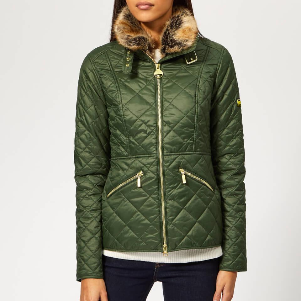 Barbour International Women's Corner Quilted Coat - Moss Green - UK 12 - Green