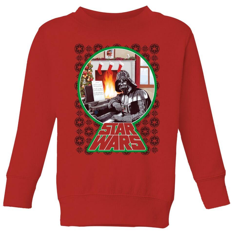 Nützlichfanartikel - Star Wars A Very Merry Sithmas Kinder Pullover Rot 9 10 Jahre - Onlineshop Sowas Will Ich Auch