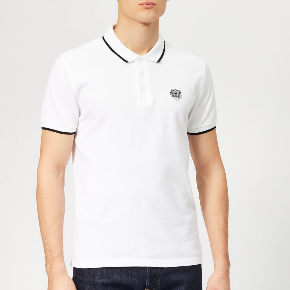 Kenzo Mens Tipped Polo Shirt White Free Uk Delivery Over 50
