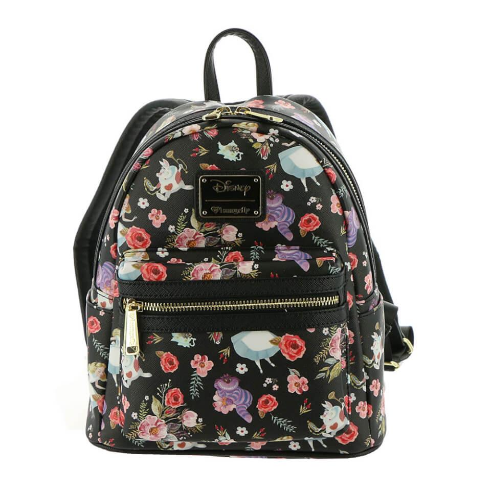Loungefly Disney Alice in Wonderland Rabbit Floral Aop Backpack