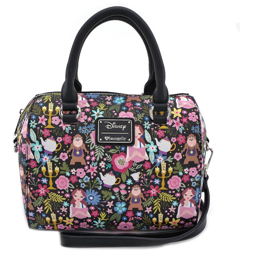 Bolso De Viaje Estampado Con Diseño Floral - Loungefly Disney La Bella y La Bestia - Belle