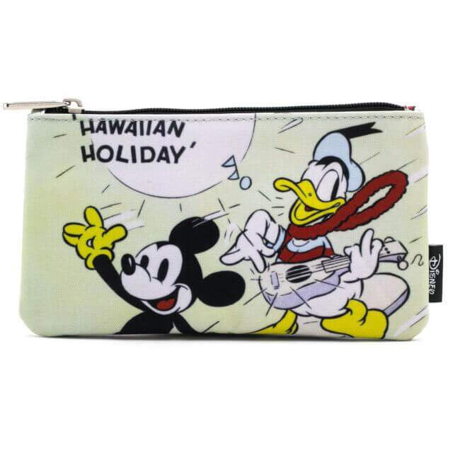 Loungefly Disney Mickey Mouse Mickey Hawaiian Surf Zippered Pouch