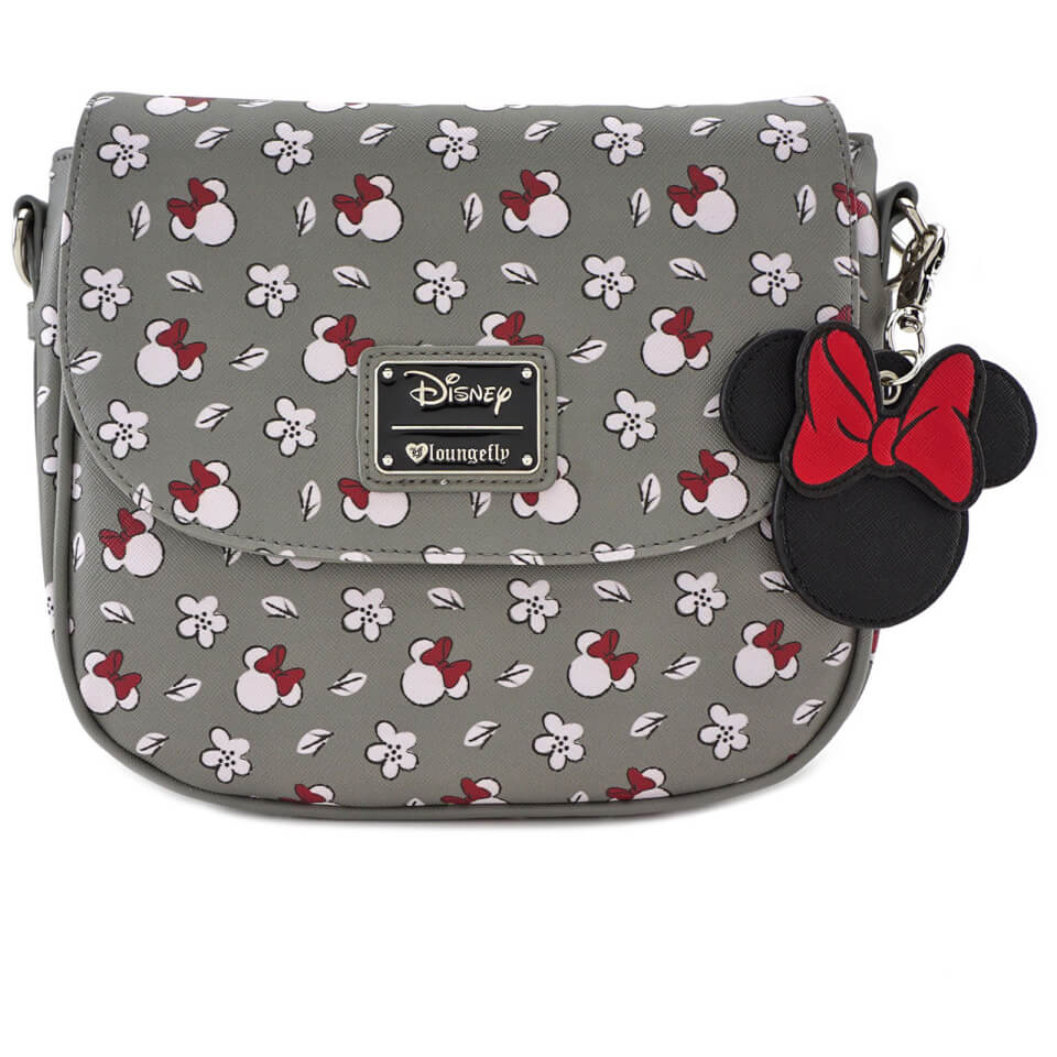 Bandolera Estampada - Disney Loungefly - Minnie Mouse - Gris
