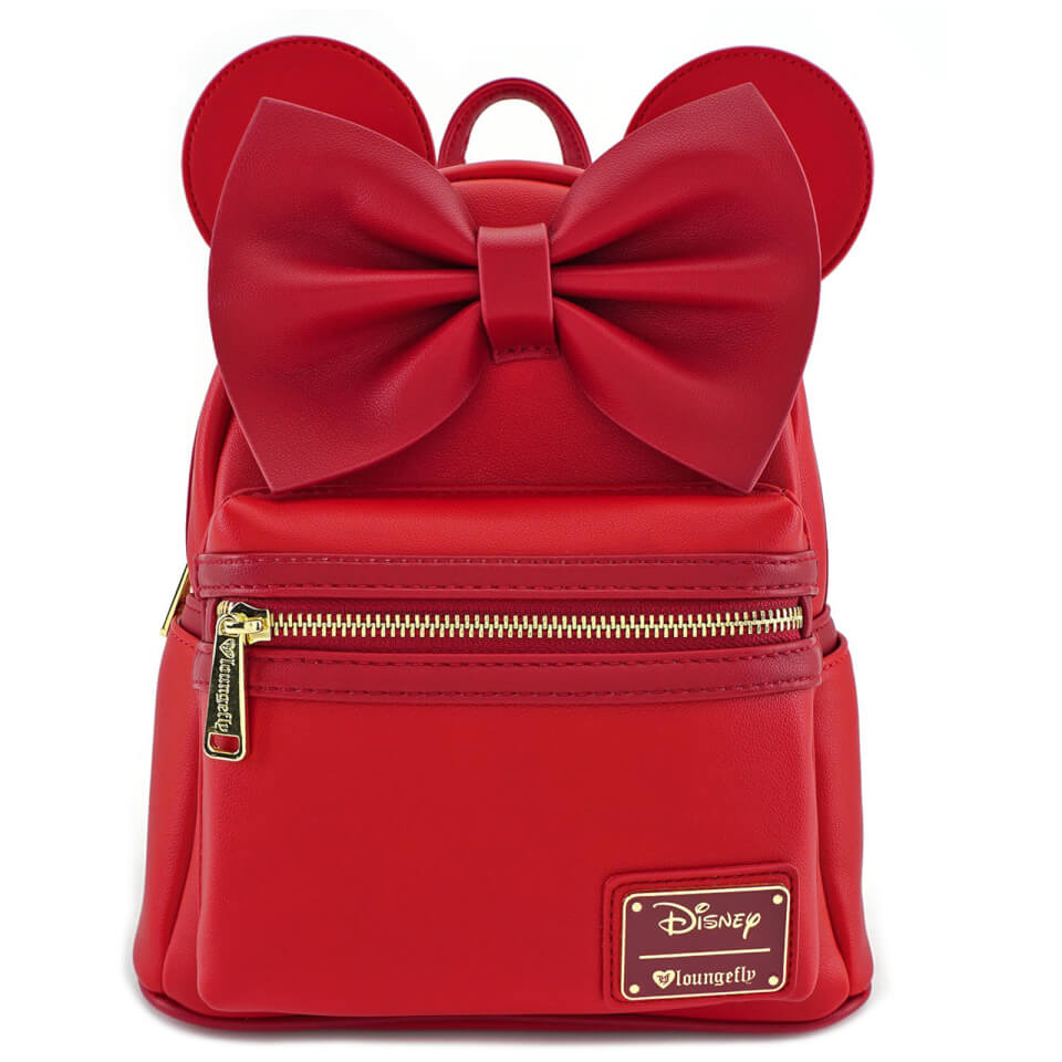 Loungefly Disney Mickey Mouse Minnie Ears Mini Backpack Red